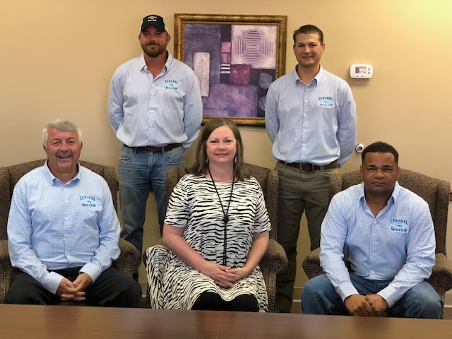 Management: seated, Glenn Goldman, General Manager, Shelley Ellard, Office Manager; and Ronnie Donald, Maintenance Manager; standing, Wesley Spears, Operations Manager; and John Wilkerson, Assistant Manager