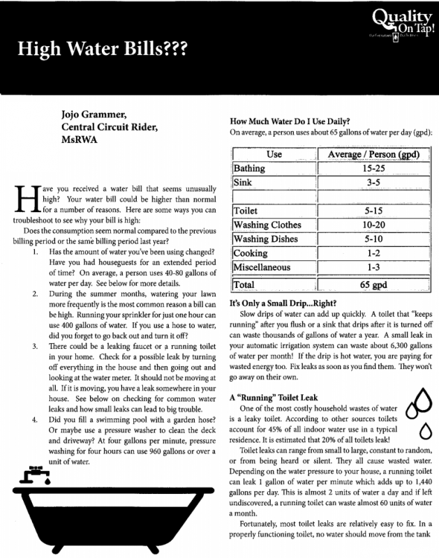 High Water BIlls